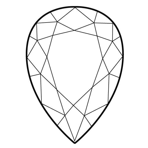 Colorless Diamond, Pear, F, 5.03 Carat