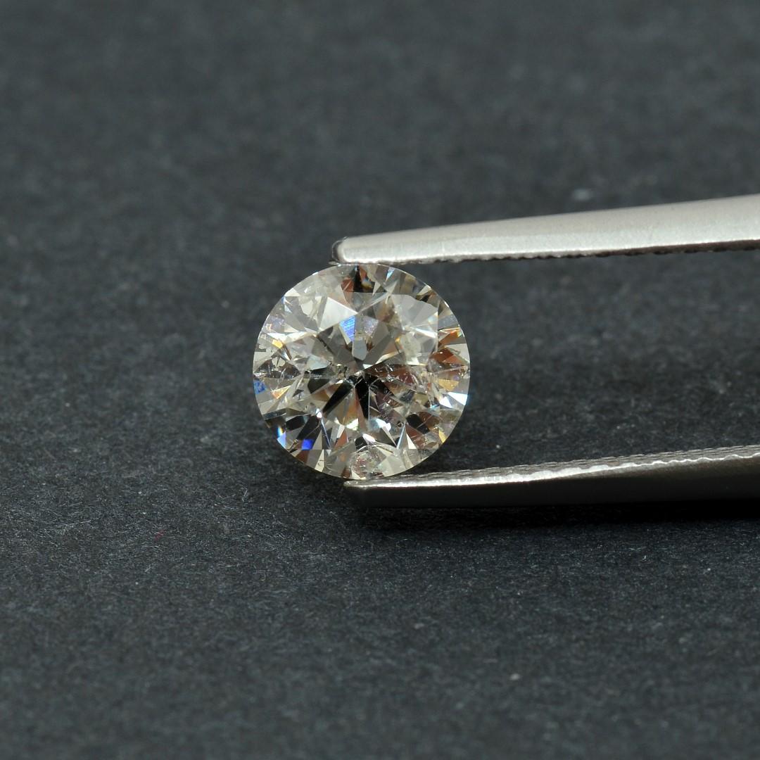 Colorless Diamond, Round, F, 1.06 Carat