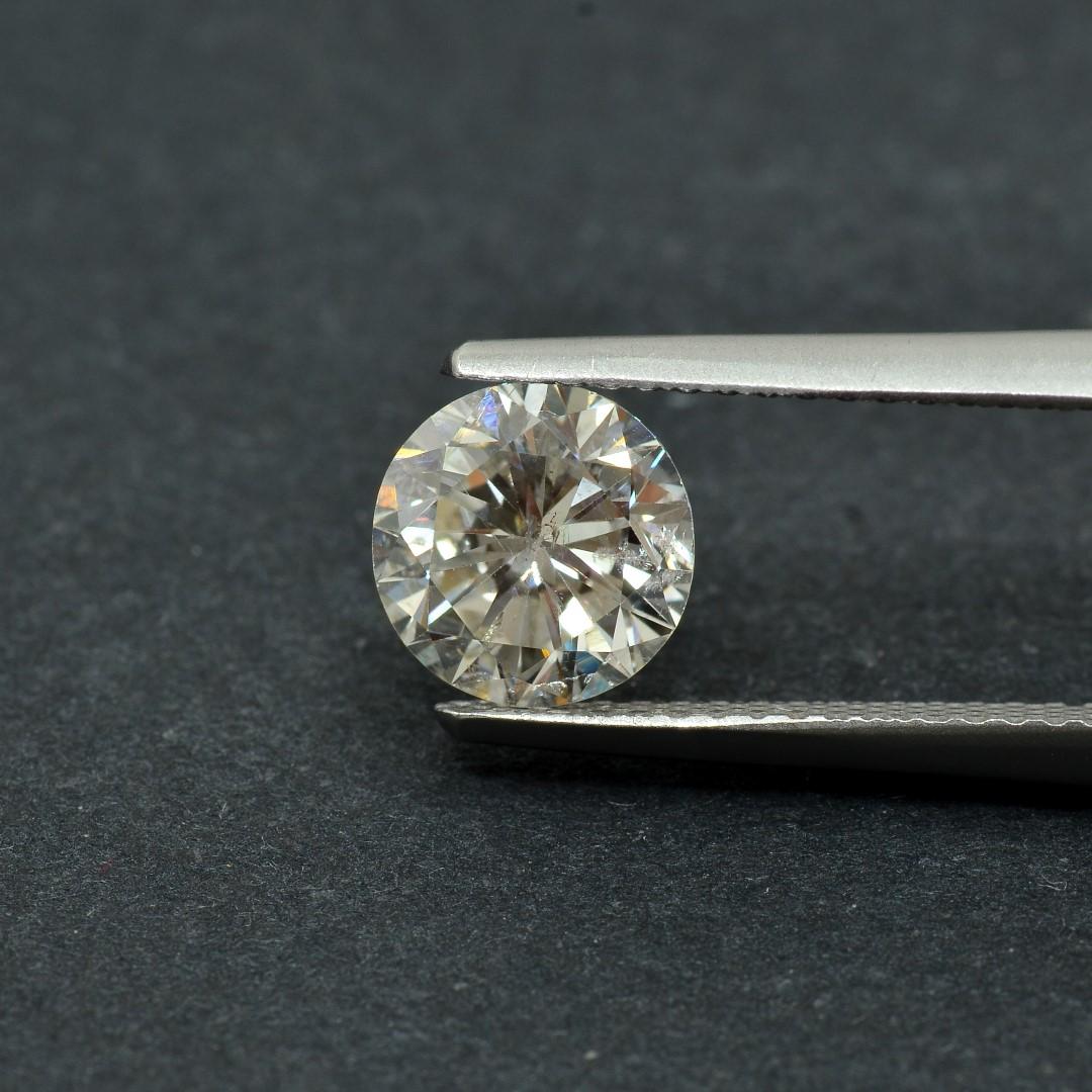 Colorless Diamond, Round, F, 1.39 Carat