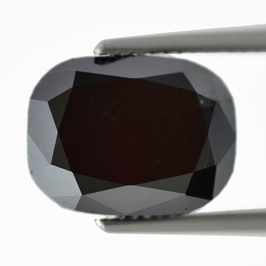 Black Diamond, Cushion, Fancy Black, 4.12 Carat