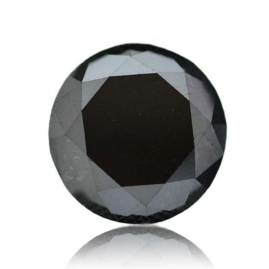 Black Diamond, Round, Fancy Black, 14.64 Carat