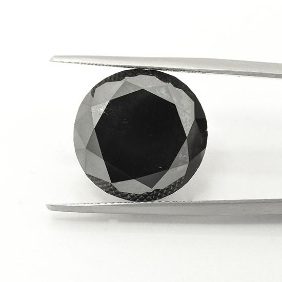 Black Diamond, Round, Fancy Black, 18.28 Carat