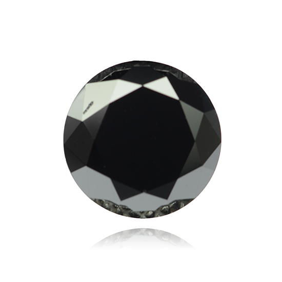 Black Diamond, Round, Fancy Black, 1.78 Carat