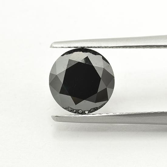 Black Diamond, Round, Fancy Black, 1.58 Carat