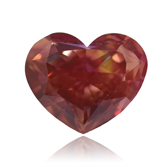 Pink Diamond, Heart, Fancy Deep Orangy Pink, 5.08 Carat