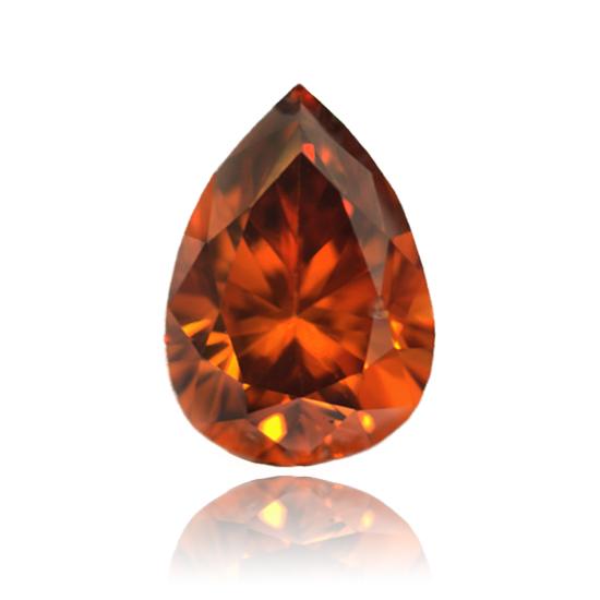 Pink Diamond, Pear, Fancy Deep Purple Pink, 0.88 Carat