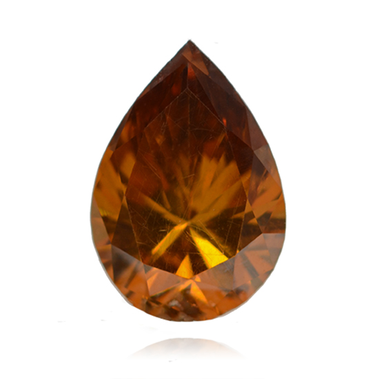 Orange Diamond, Pear, Fancy Deep Pinkish Orange, 0.59 Carat