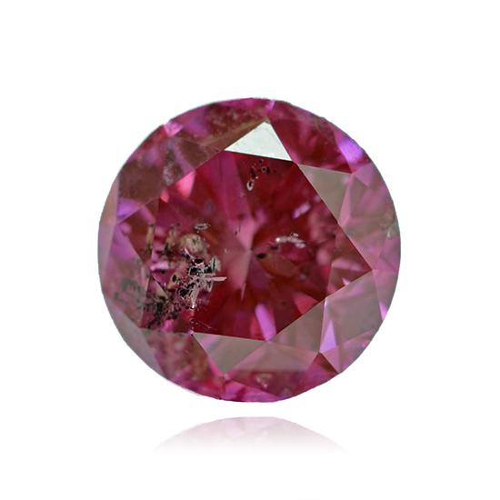 Pink Diamond, Round, Fancy Deep Purple Pink, 0.88 Carat