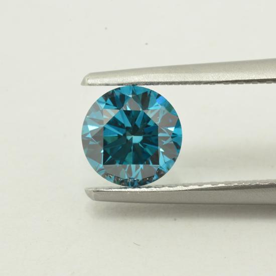 Blue Diamond, Round, Fancy Intense Blue, 0.91 Carat