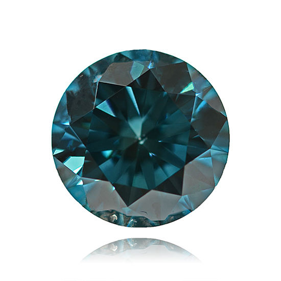 Blue Diamond, Round, Fancy Intense Blue, 0.90 Carat