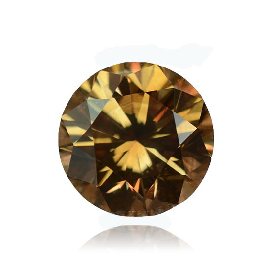 Cognac Diamond, Round, Fancy Intense Brown, 1.08 Carat