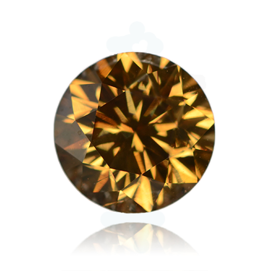 Cognac Diamond, Round, Fancy Intense Brown, 0.99 Carat