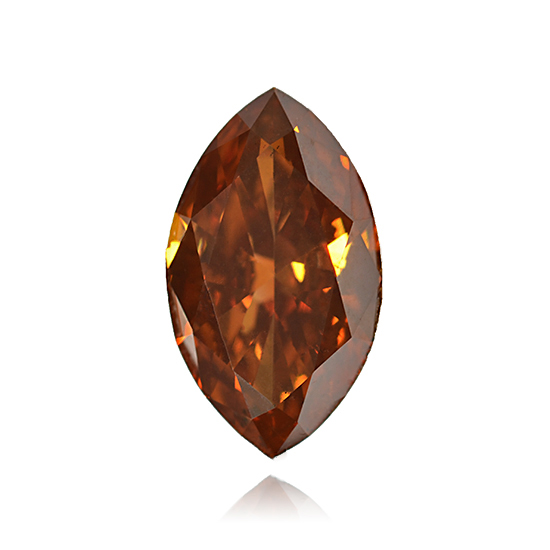 Orange Diamond, Marquise, Fancy Intense Brownish Orange, 1.72 Carat