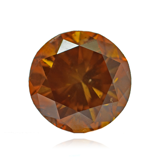 Orange Diamond, Round, Fancy Vivid Pinkish Orange, 1.50 Carat