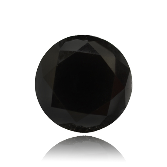 Black Diamond, Round, Fancy Vivid Black, 7.89 Carat