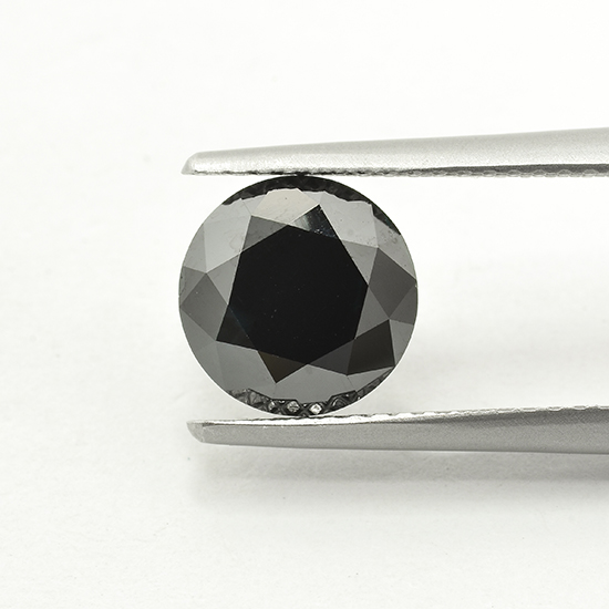 Black Diamond, Round, Fancy Vivid Black, 0.64 Carat