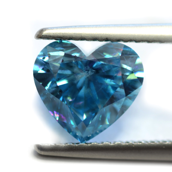 Blue Diamond, Heart, Fancy Vivid Blue, 0.90 Carat