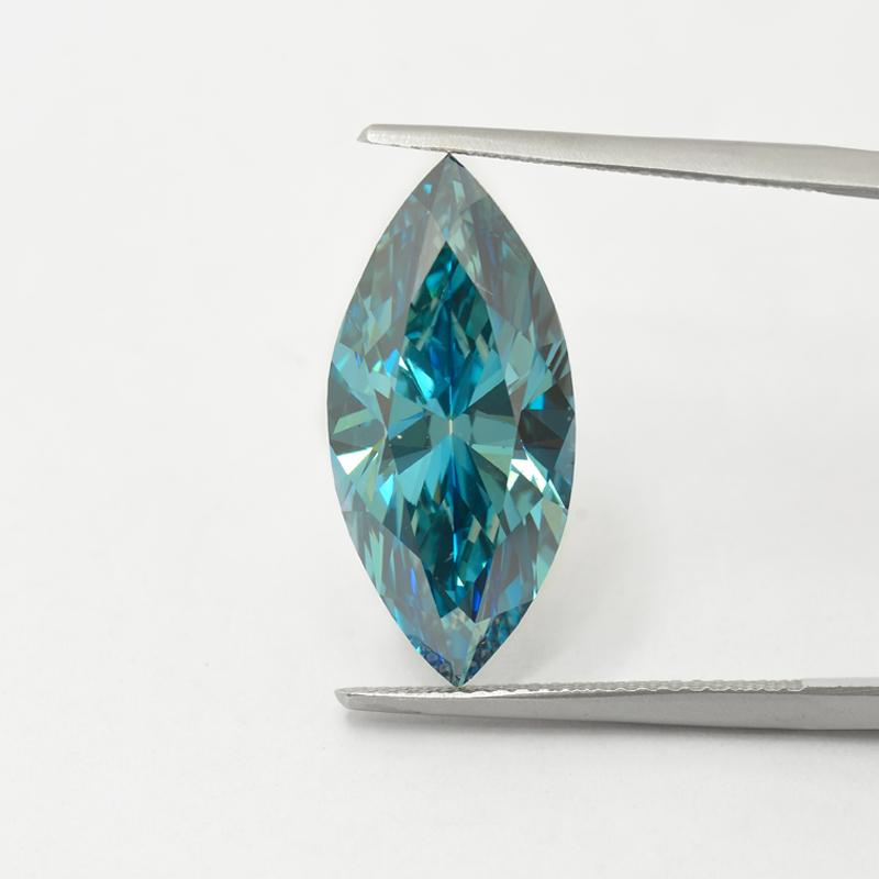 Blue Diamond, Marquise, Fancy Vivid Green Blue, 7.42 Carat