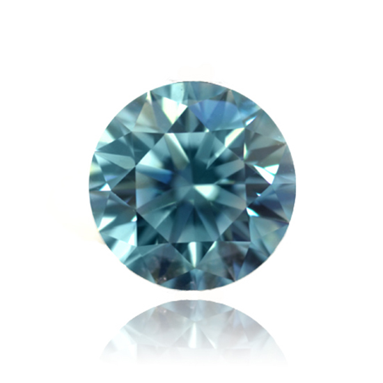 Blue Diamond, Round, Fancy Vivid Blue, 0.10 Carat