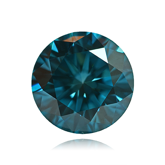 Blue Diamond, Round, Fancy Vivid Blue, 0.95 Carat