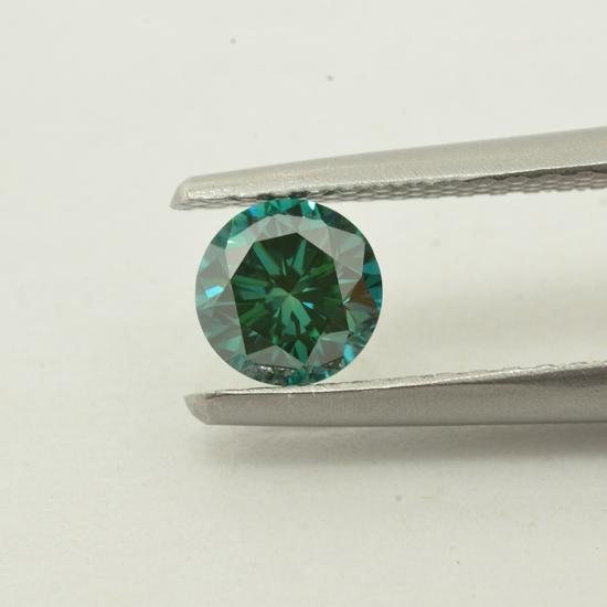Blue Diamond, Round, Fancy Vivid Blue, 0.58 Carat