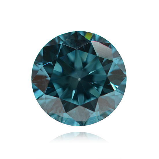 Blue Diamond, Round, Fancy Vivid Blue, 0.50 Carat