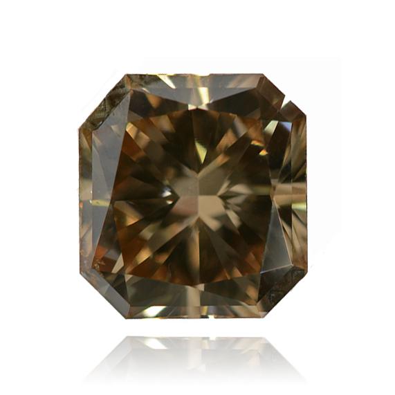Cognac Diamond, Radiant, Fancy Vivid Brown, 1.58 Carat