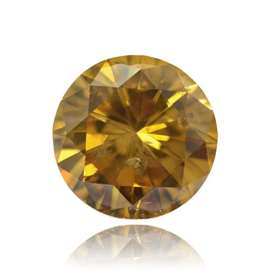 Cognac Diamond, Round, Cognac, 5.05 Carat