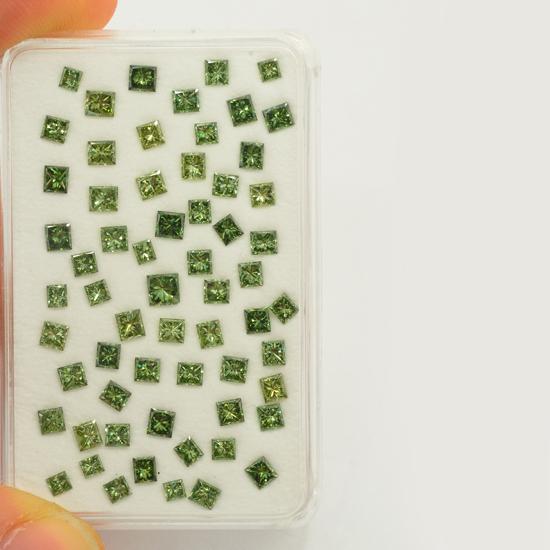 Green Diamond, Princess, Fancy Vivid Green, 50.00 Carat