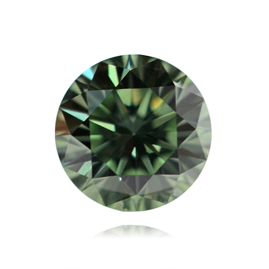 Green Diamond, Round, Fancy Vivid Green, 0.52 Carat