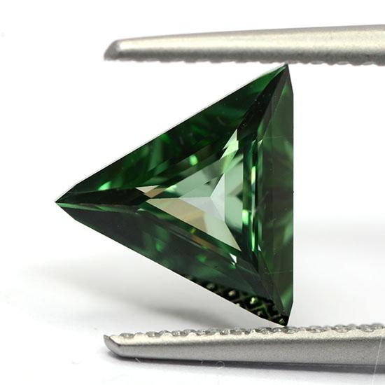 Green Diamond, Triangle, Fancy Vivid Bluish Green, 0.99 Carat