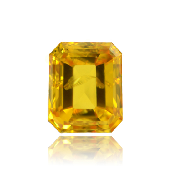 Orange Diamond, Emerald, Fancy Vivid Yellowish Orange, 0.80 Carat