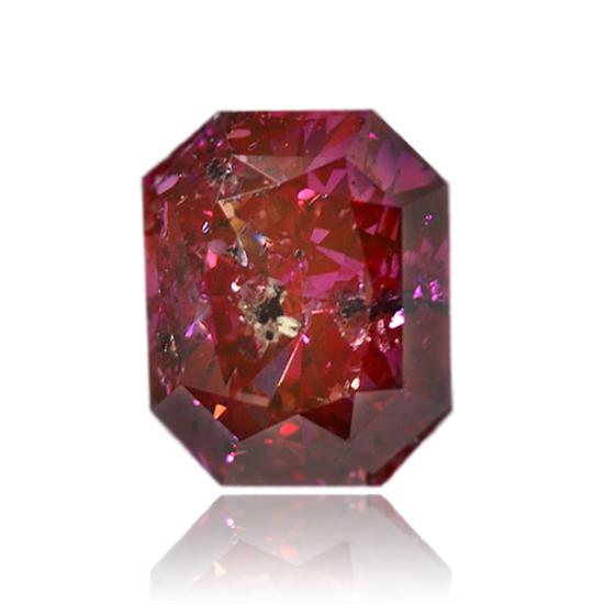 Pink Diamond, Emerald, Fancy Vivid Purple Pink, 1.38 Carat