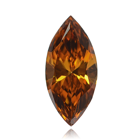 Orange Diamond, Marquise, Fancy Vivid Pinkish Orange, 0.61 Carat