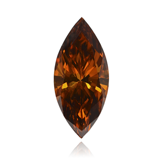 Orange Diamond, Marquise, Fancy Vivid Pinkish Orange, 0.57 Carat