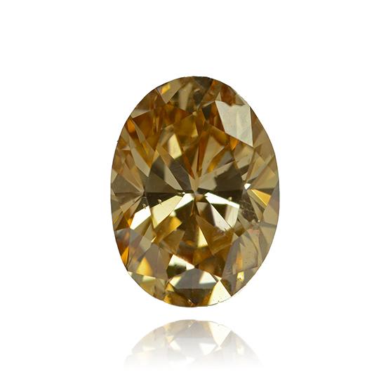 Pink Diamond, Oval, Fancy Vivid Yellow Pink, 0.96 Carat
