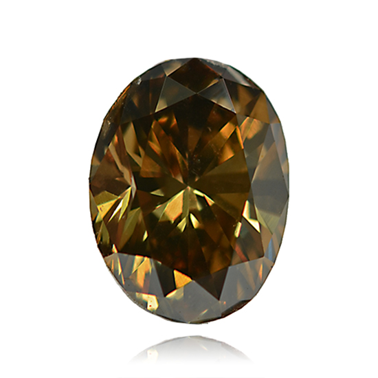 Orange Diamond, Oval, Fancy Vivid Brownish Orange, 0.80 Carat