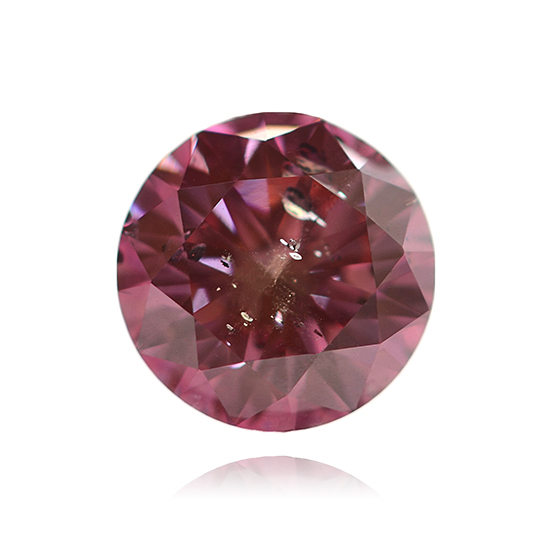 Pink Diamond, Round, Fancy Vivid Purple Pink, 0.67 Carat