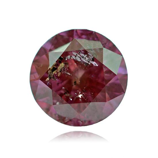 Pink Diamond, Round, Fancy Vivid Purple Pink, 0.57 Carat