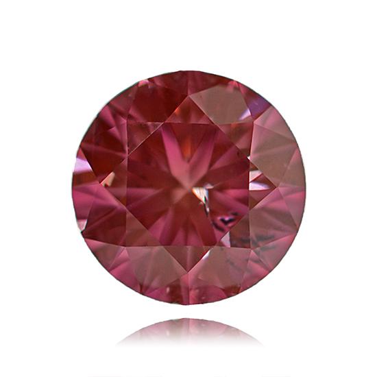 Pink Diamond, Round, Fancy Vivid Pink, 0.54 Carat
