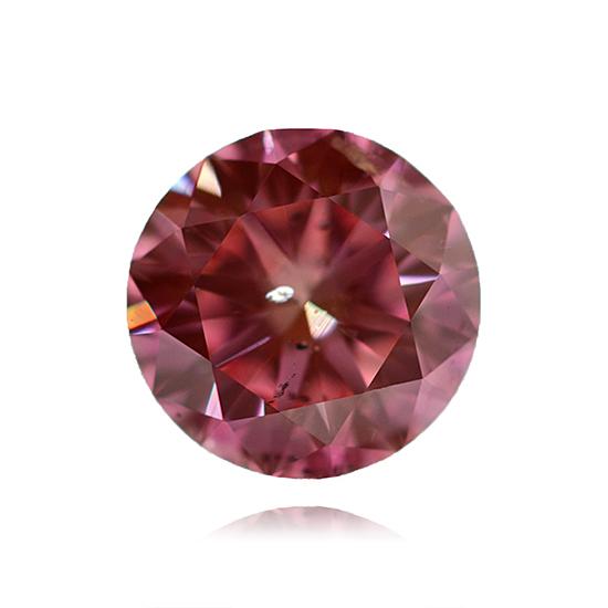 Pink Diamond, Round, Fancy Vivid Pink, 0.64 Carat