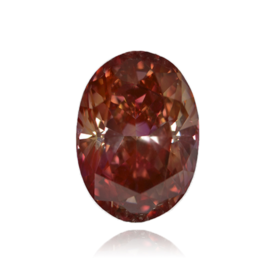 Red Diamond, Oval, Fancy Vivid Pink Red, 1.44 Carat
