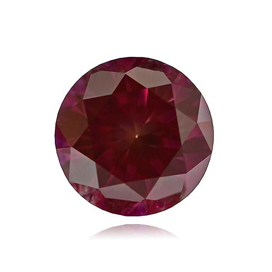 Red Diamond, Round, Fancy Vivid Purple Red, 0.90 Carat