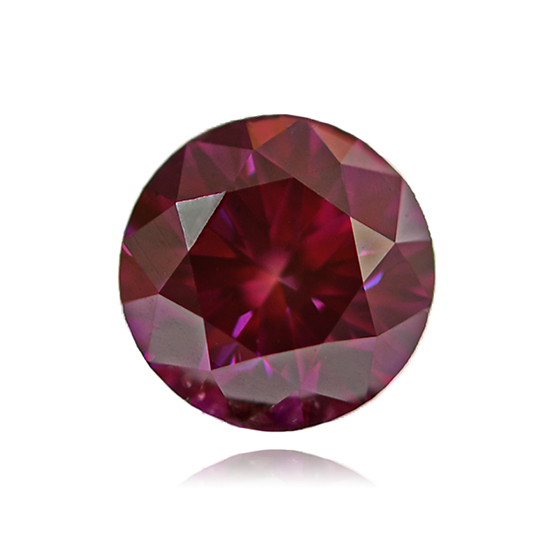 Red Diamond, Round, Fancy Vivid Purple Red, 0.75 Carat