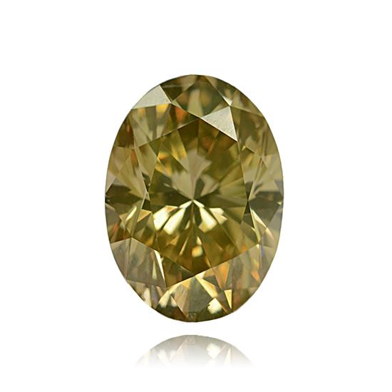 Yellow Diamond, Oval, Fancy Vivid Green Yellow, 1.05 Carat