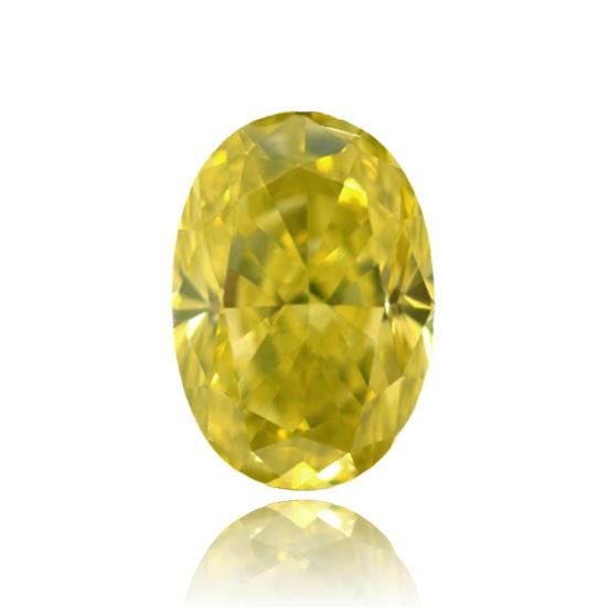 Yellow Diamond, Oval, Fancy Vivid Yellow, 1.00 Carat