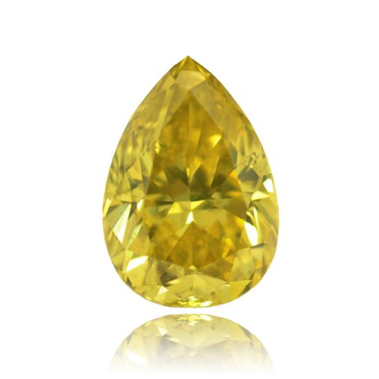 Yellow Diamond, Pear, Fancy Vivid Yellow, 1.69 Carat