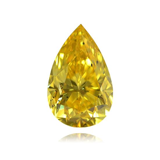 Yellow Diamond, Pear, Fancy Vivid Yellow, 0.94 Carat