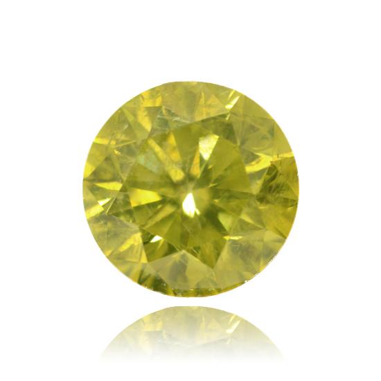 Yellow Diamond, Round, Fancy Vivid Yellow, 2.54 Carat