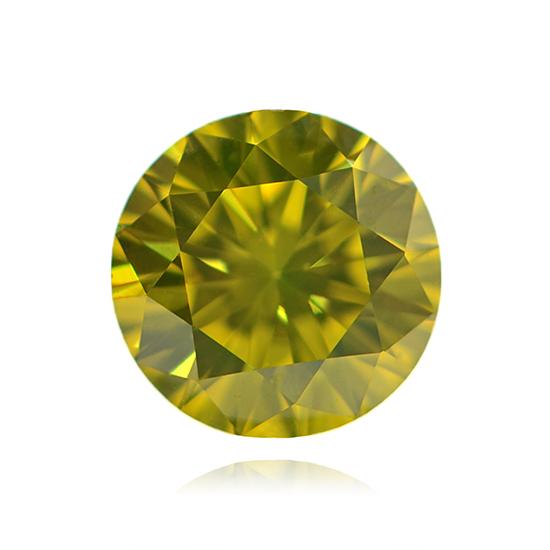 Yellow Diamond, Round, Fancy Vivid Yellow, 0.67 Carat